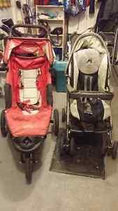 2 Poussettes : Baby Jogger et Peg Perego PK3