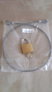 bike cable steel with lock.