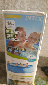 INTEX 16 ft easy set pool 16ft × 42in