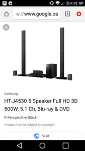 3D bluray home theater with blue