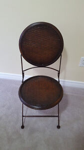 Decorative Metal Folding Side Chair That Looks Antique