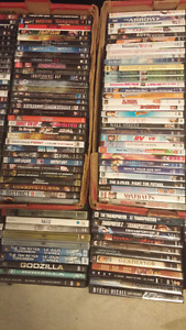 3 pictures full of DVDs at only $1 each (Blu-Rays in other ads)