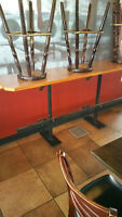 Restaurant bar tables for sale, includes Bench seats Saskatoon Saskatchewan Preview