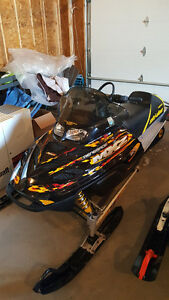 2002 Ski-Doo Renegade w/ Double Wide Trailer