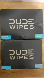 DUDE Wipes, Flushable Single Moist with Aloe Vera, 30 Count