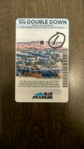 Blue Mountain 1 Day Pass Double Down Lift