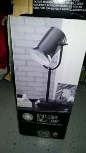 Spotlight table lamp (New in box) and Silver Desk Lamp