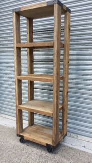 NEW FRENCH INDUSTRIAL RECYCLED VINTAGE BOOKCASE KITCHEN DISPLAY Chipping Norton Liverpool Area Preview