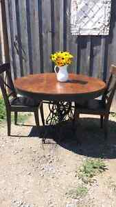 antique cast iron base dining room table