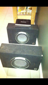 Subs and amp mint condition