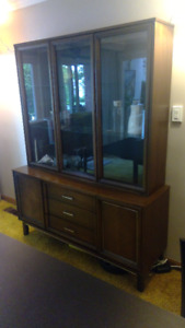 Dining credenza and hutch