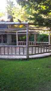 Log Home Style Gazebo and Pergolas, Cedar wood or Pine Kitchener / Waterloo Kitchener Area image 5