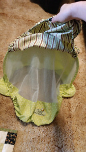 Infant sun/wind/bug car seat cover