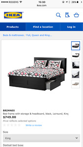 Very new IKEA KING size bed for sell