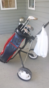 HIS/HERS GOLF CLUBS/CARTS