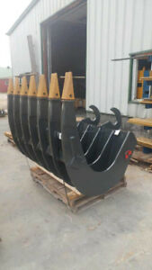 Excavator Attachments - Buckets, Grapples, Thumbs, Root Rakes