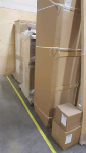 white Kitchen cabinets, not ex dis[lay, still boxed