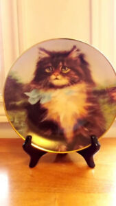 Vintage Amy Brackenbury Cat Tales Collection Plates with COA