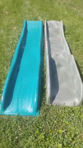 2 glissoires pour portique en bois