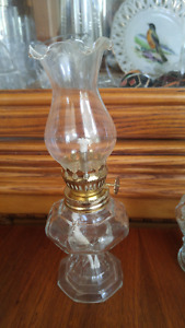 Small vintage oil lamp