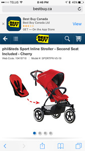 Phil and Ted Double stroller/Accessories