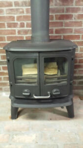 MORSO MODEL 2110 PANTHER CAST IRON WOODSTOVE & CHIMNEY $2500 OBO