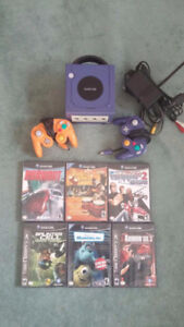 Game Cube Indigo Console With All Wires/ 2 Controllers/ 6 Games