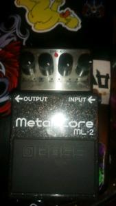 Digitech metal core distortion pedal