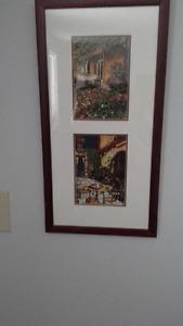 "Two 21"" x 11"" prints by well-known Montreal artist Renée Bovet"
