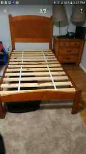 Twin bed, night table & desk 100 for all