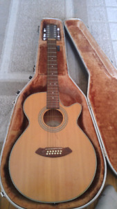 12 string acoustic Fender guitar w pickups