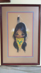 Two Original Paintings by Gina (Gerda) Chistofferson Born in Den