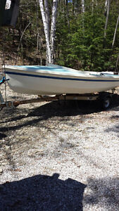 CL16 sailboat and trailer