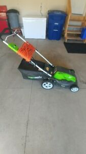 "21"" Greenworks Electric Lawnmower Like New!!"