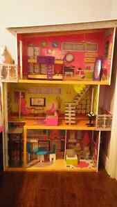 Barbie House and Barbies