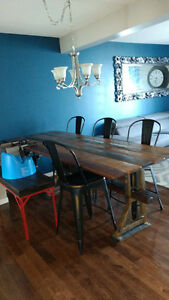 Industrial table set..Dining table 8ft