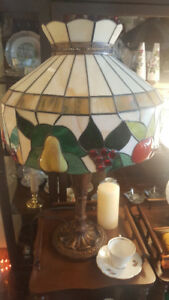 Stained Glass Fruit Lamp