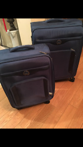 brand new double wheel Delsey soft luggage set