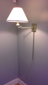 2 wall mounted lamps