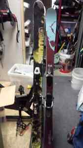 two pairs of used skis with bindings / VERY AFFORDABLE