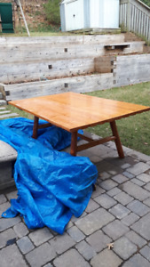 Solid wood dining table, perfect for cottage or large kitchen