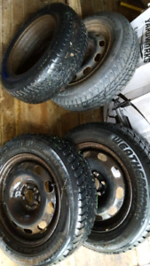 VW winter tires and rims 195 65 15