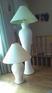 Pair of beautiful floor and table lamp
