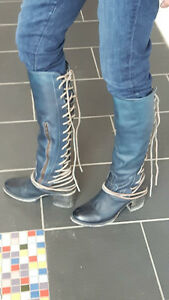 leather boots size 9