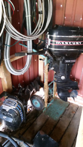 Two mercury outboards,  20hp and 7.5hp