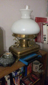 LAMP/CONVERTED VINTAGE COAL OIL  TO ELECTRICITY