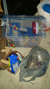 Like new hamster cage and accessories