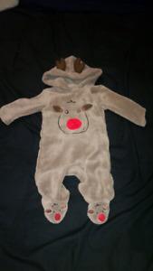 George - Reindeer suit- 3-6 months ($10)