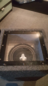 """10"""" JL audio sub woofer with ported box."""