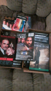 25 DVD's and 10 vcr movies